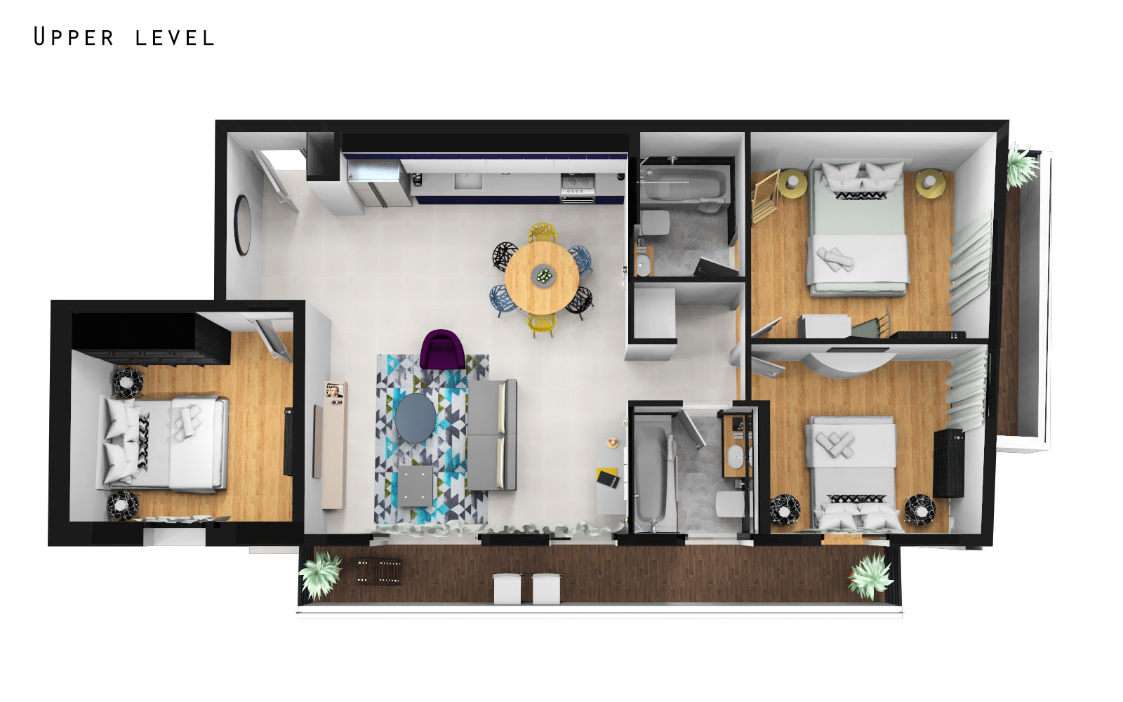 Apartment Four Bedroom Apartment With Balcony photo 20350218