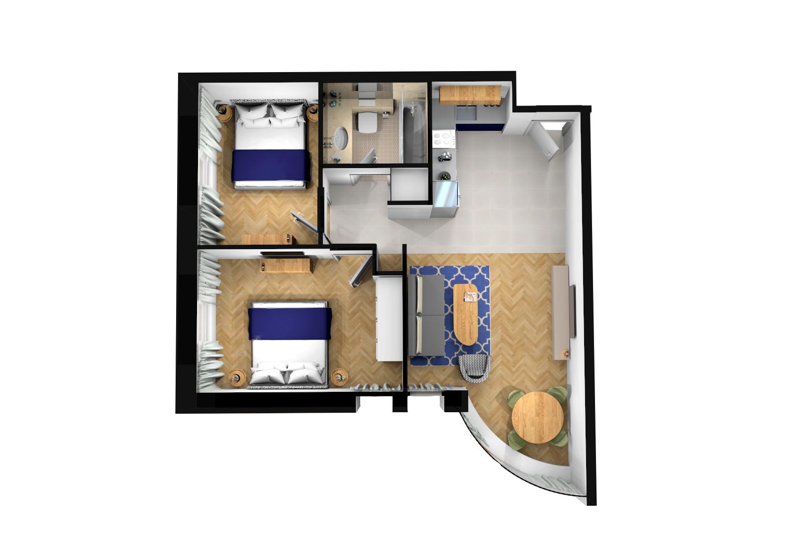 One bedroom sea view apartment photo 15977396