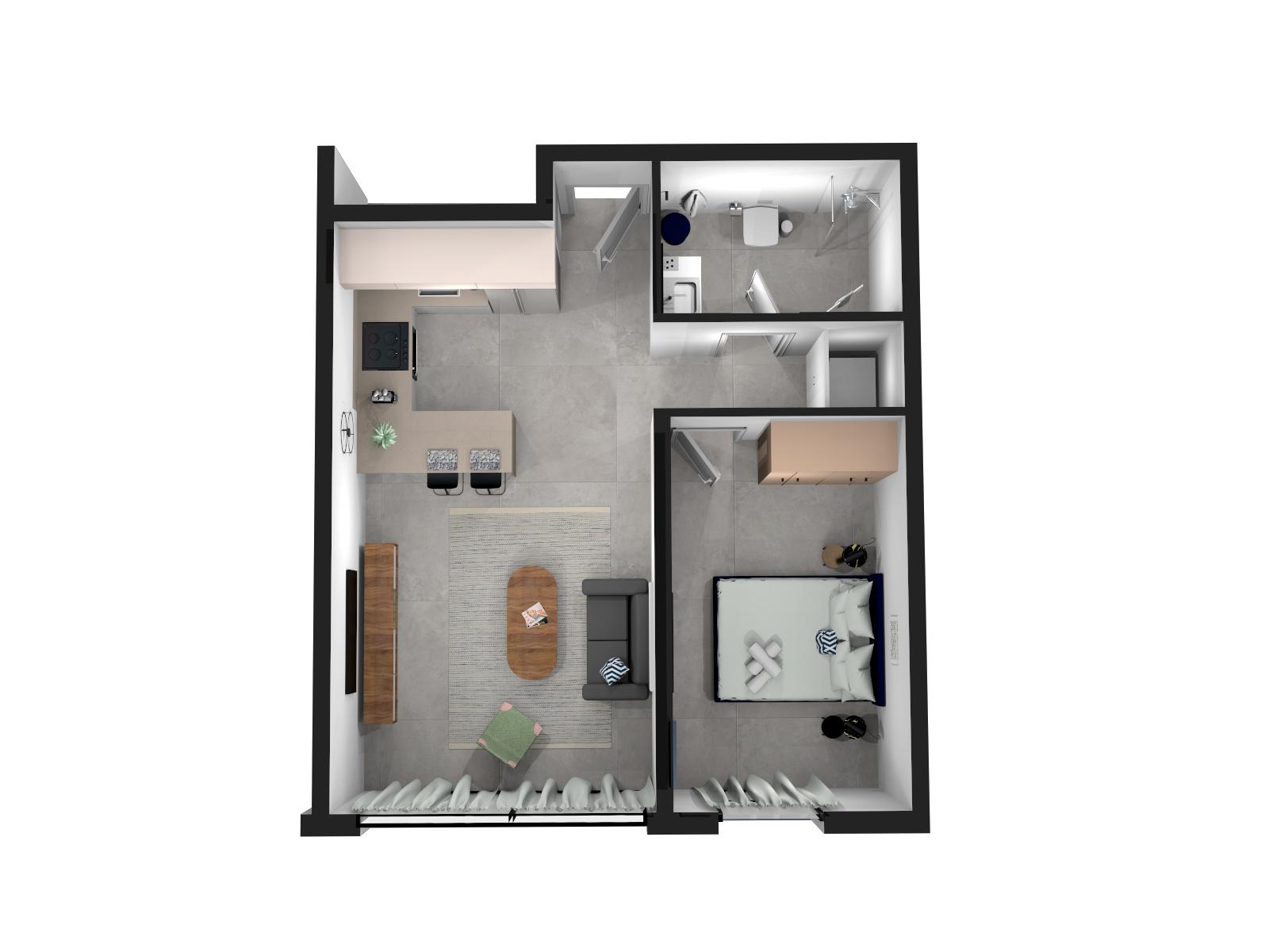 Apartment One Bedroom Apartment no Balcony photo 20622570