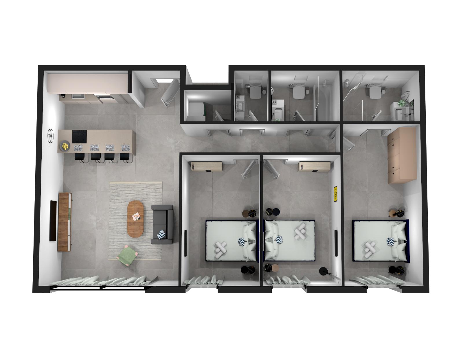 Apartment Three Bedroom Apartment no Balcony photo 19269800
